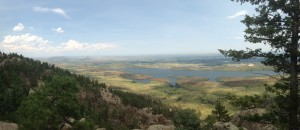 A view of Fort Collins from the top of Arthur's Rock.